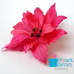 Poinsettia brooch, Christmas brooch, Christmas star